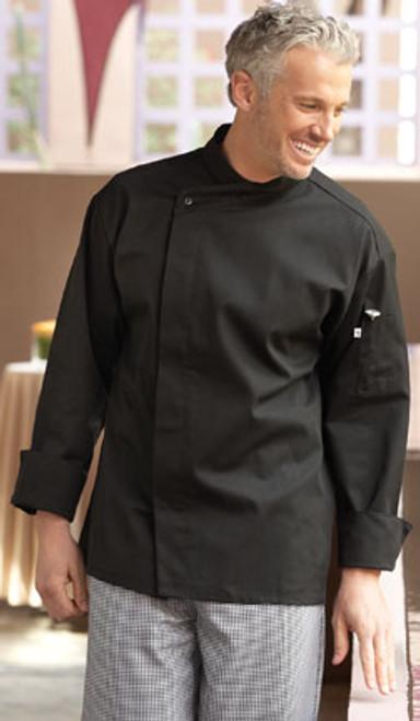Black basic chef coat