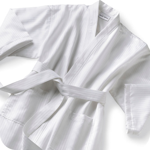 Satin stripe robe