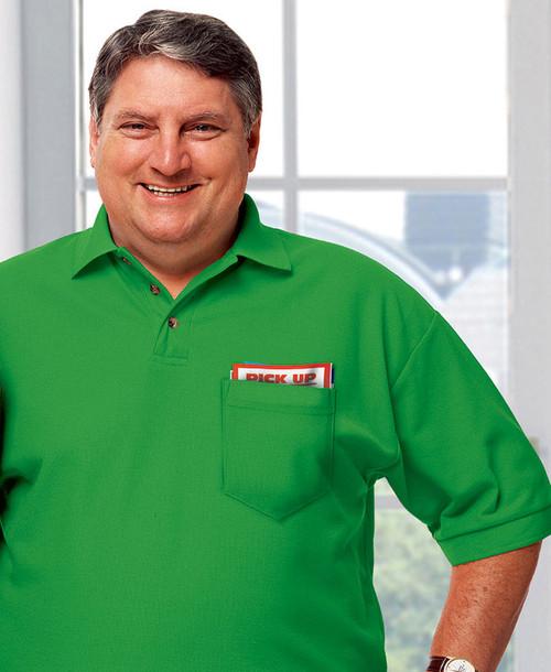 Kelly green stain resistant teflon shirt