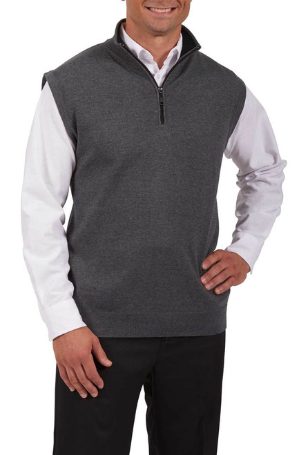 Quarter Zip Cotton Hotel Uniform Vest