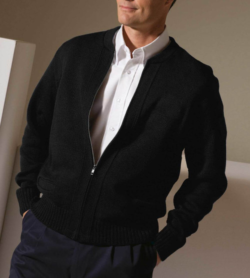Heavyweight Acrylic Zip Sweater