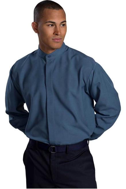 Men's Batiste Banded Collar Waiter Shirt