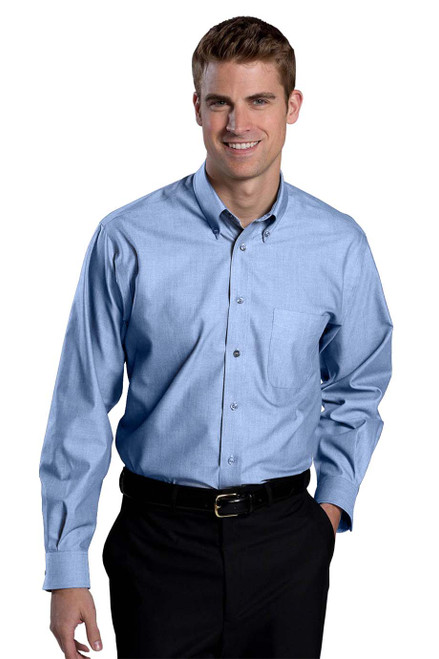 Men's Long Sleeve Wrinkle Free Oxford CLOSEOUT No Returns