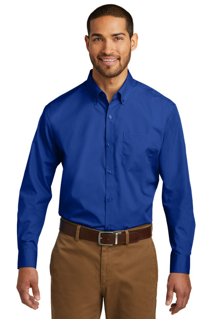 Port Authority Long Sleeve Care Free Poplin Shirt