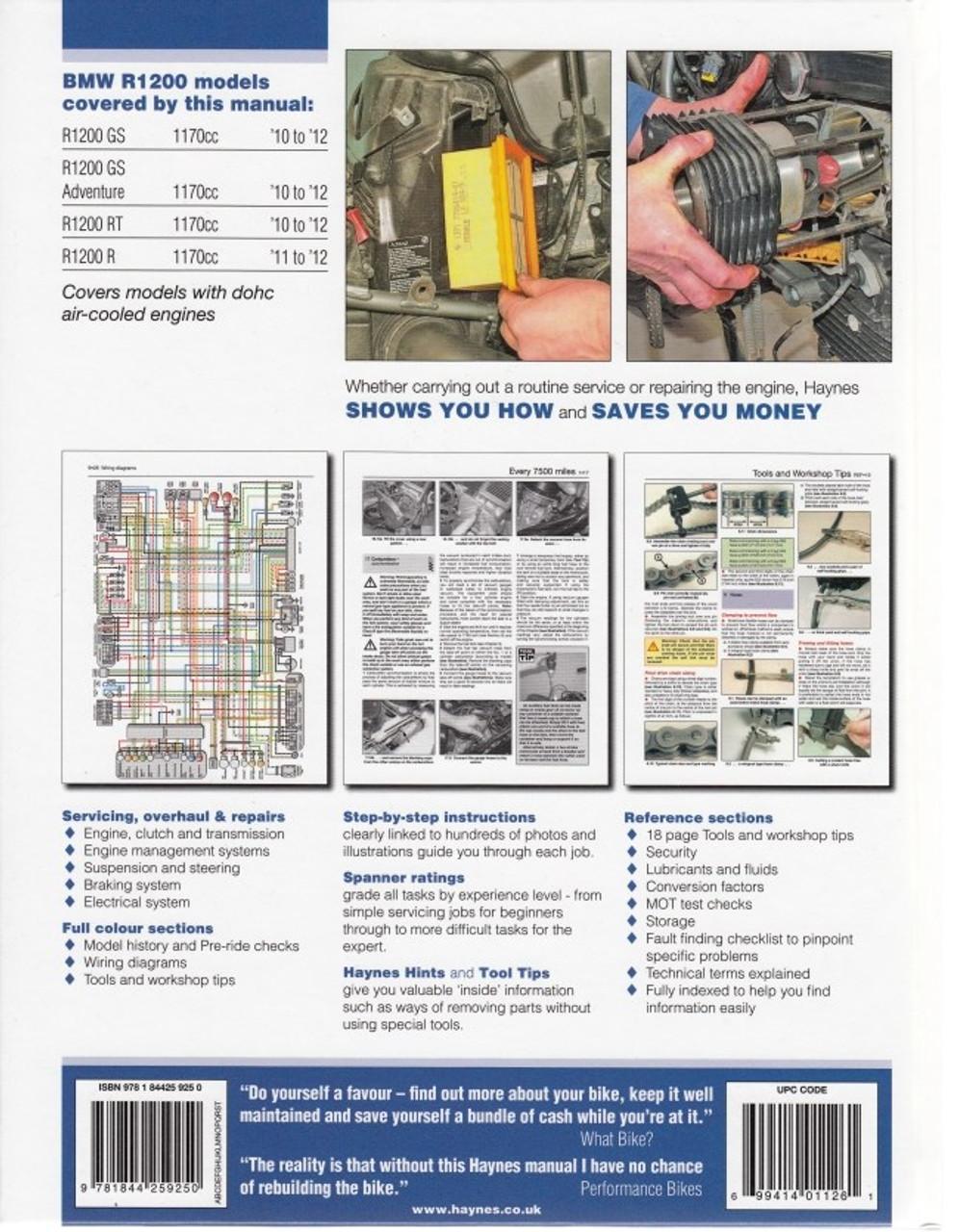 Bmw R1200 Dohc 10 12 Haynes Repair Manual