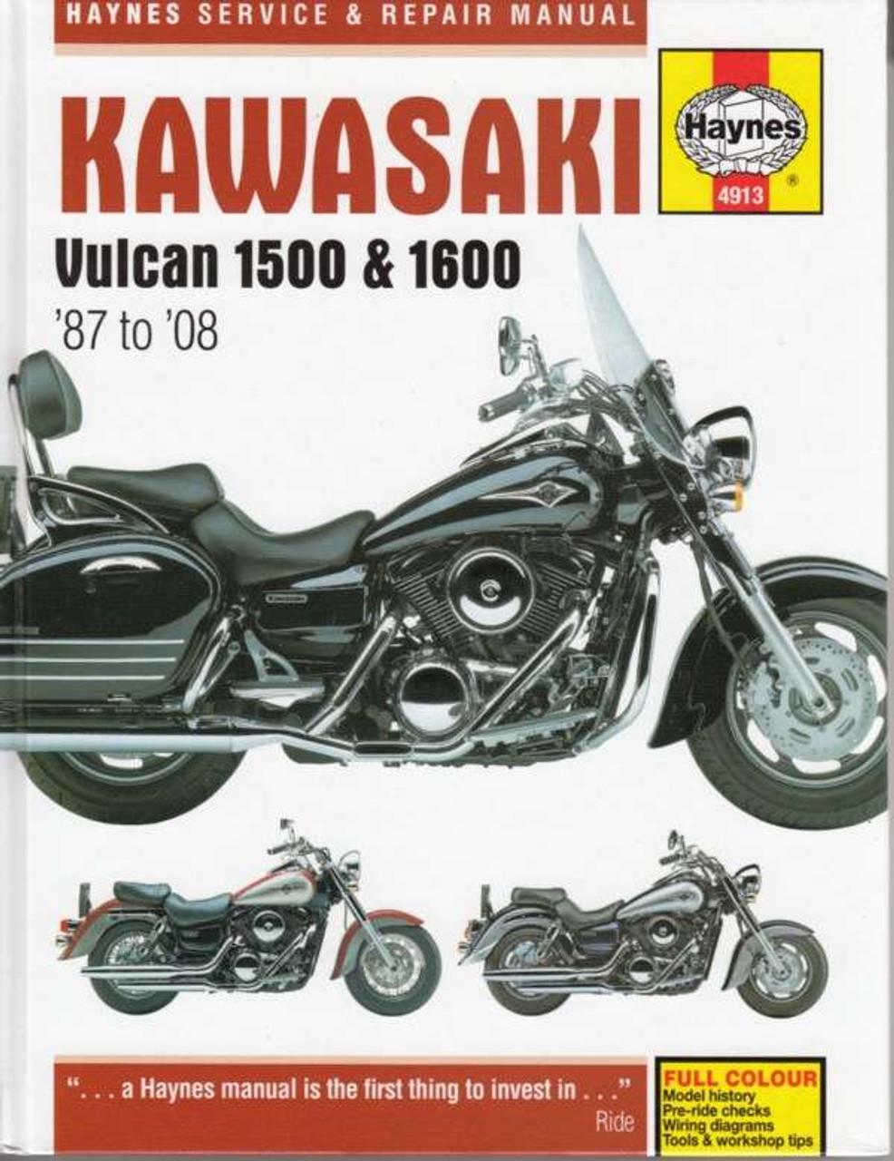 Kawasaki Vulcan 1500 1600 1987 2008 Workshop Manualrhautomotobookshopau: 1999 Kawasaki Vulcan 1500 Wiring Diagram At Gmaili.net