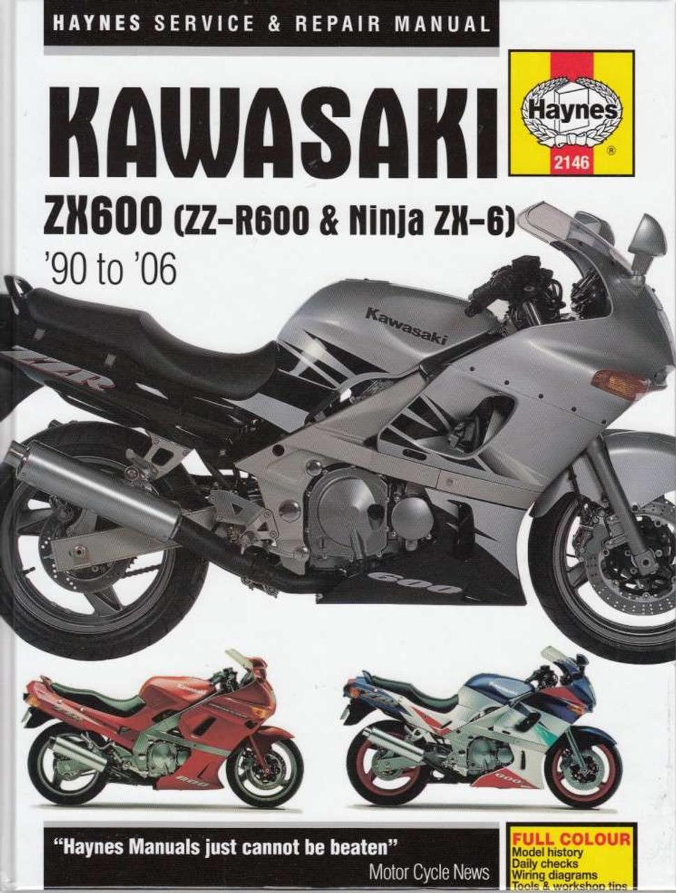 Kawasaki ZX600 (ZZ-R600, Ninja ZX-6) 1990 - 2006 Workshop Manual on