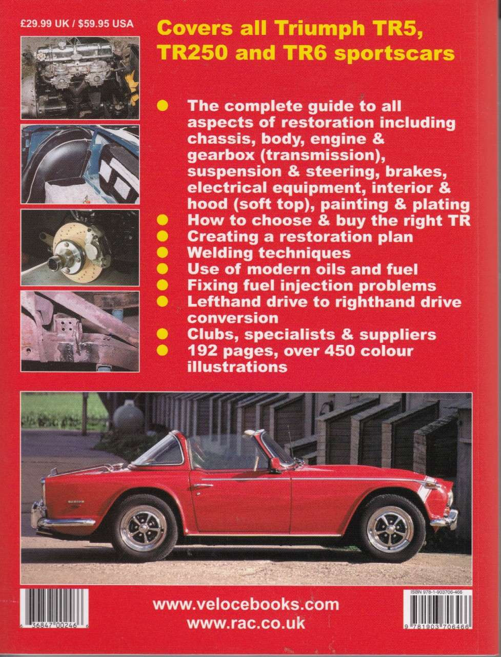 How To Restore Triumph Tr5 Tr250 And Tr6 Revised Updated Edition