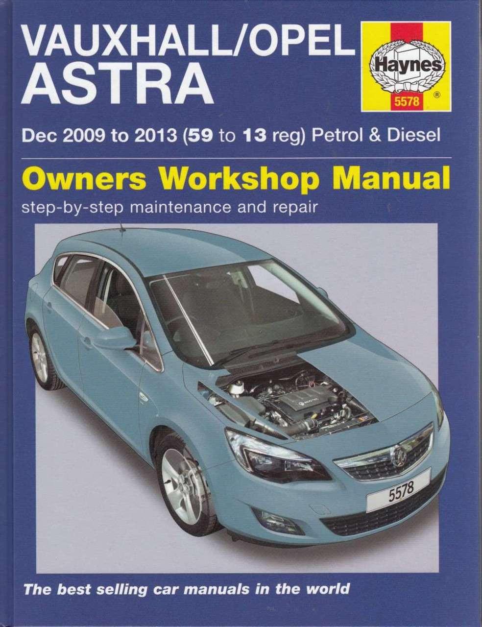 manual opel astra 2012