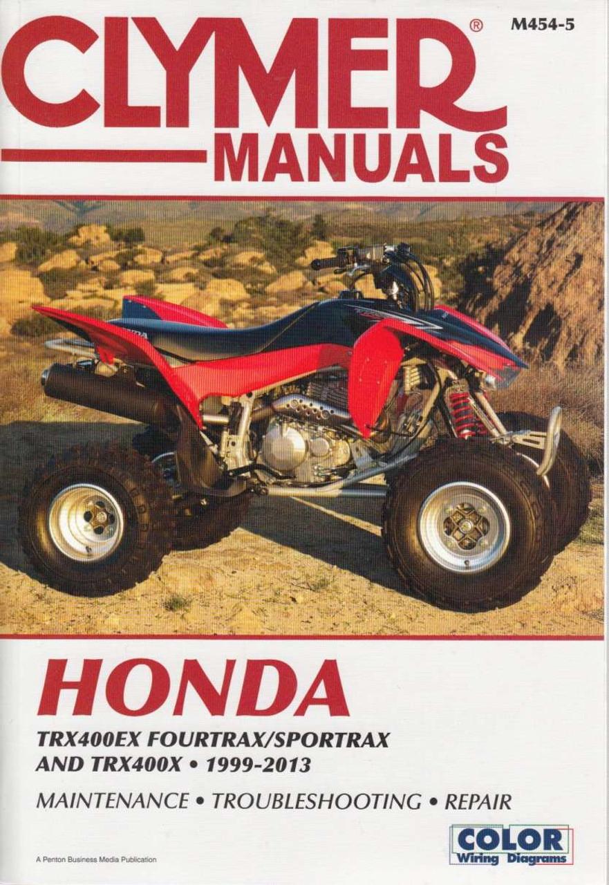 honda rx400ex fourtrax, trx400ex sportrax and trx400x 1999 - 2013 workshop  manual