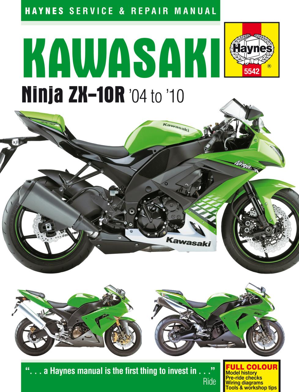Kawasaki Ninja Zx 10r 04 10 Haynes Repair Manual