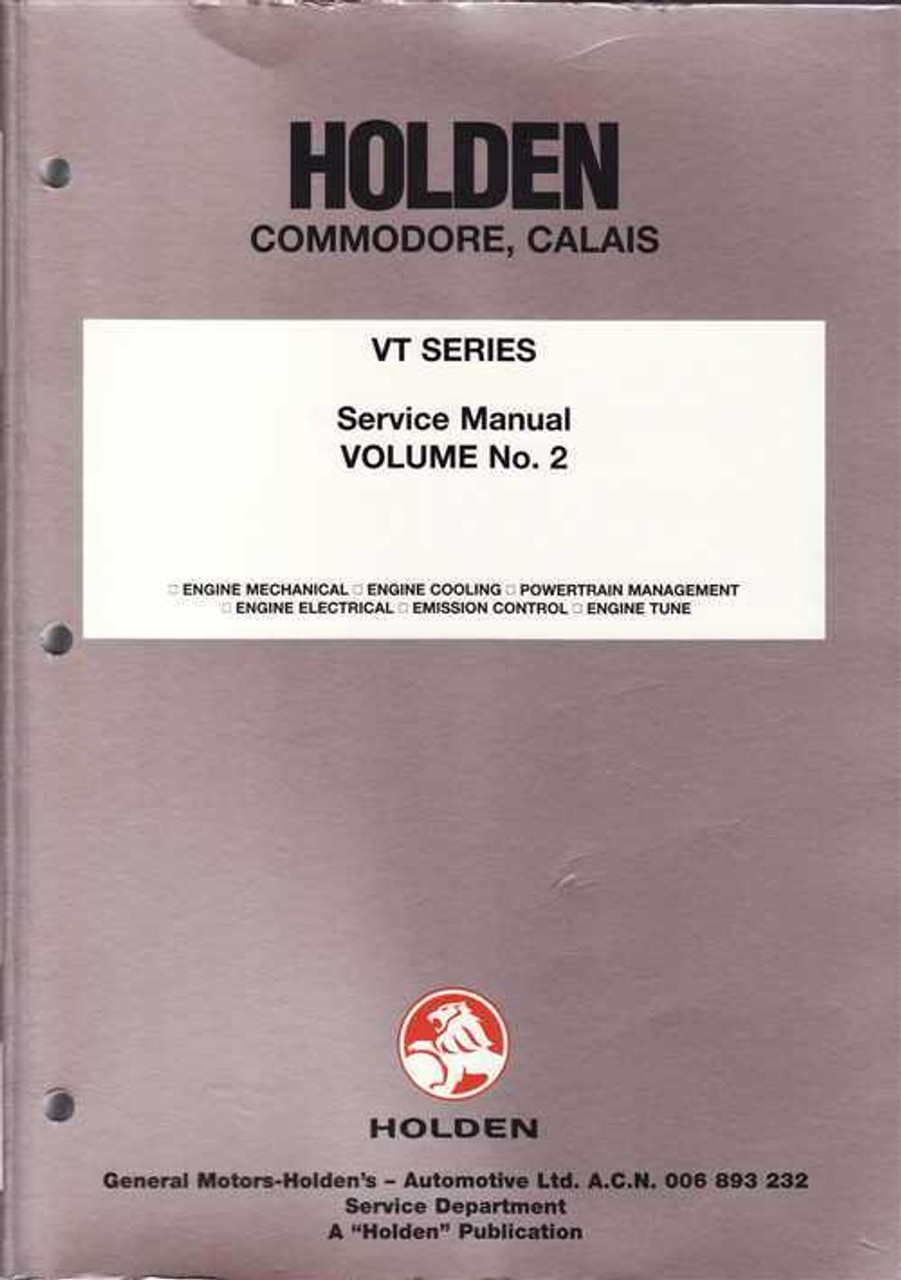 Holden Commodore Calais VT Series Repair Service Workshop Manual (Vol 2)