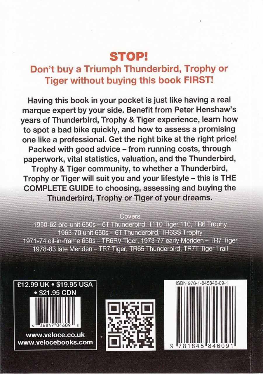 Triumph Thunderbird Trophy Tiger 1950 1983 The Essential Buyer S Guide