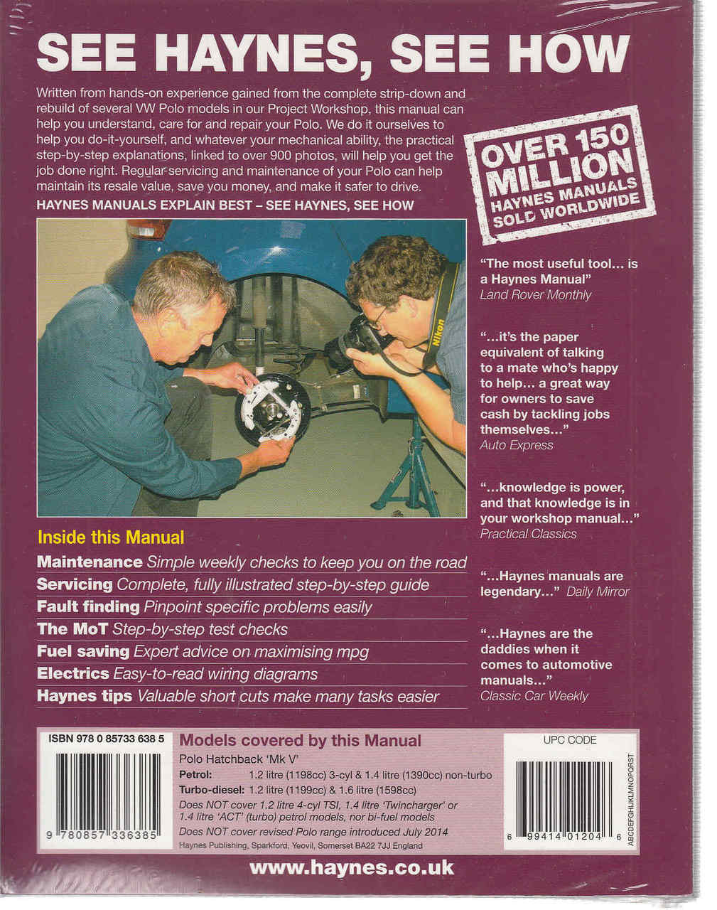 Volkswagen Polo 2009 - 2014 Petrol & Diesel Workshop Manual