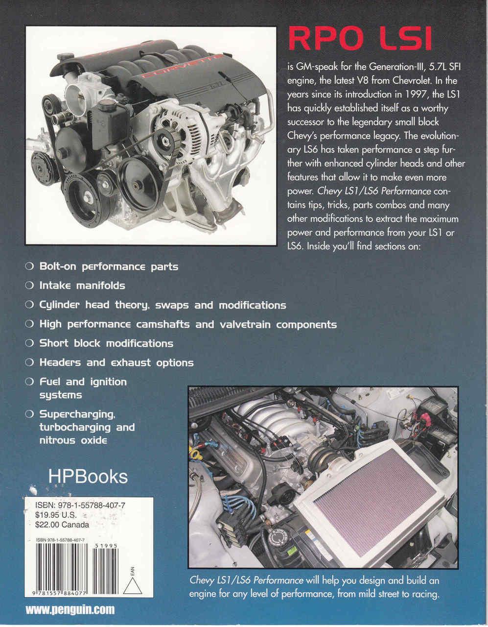 Chevy LS1/LS6 Performance HP Books