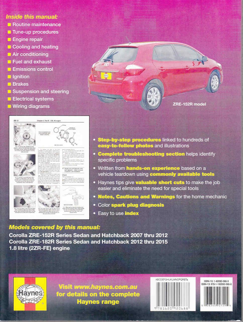 2016 Toyota Corolla Wiring Diagram