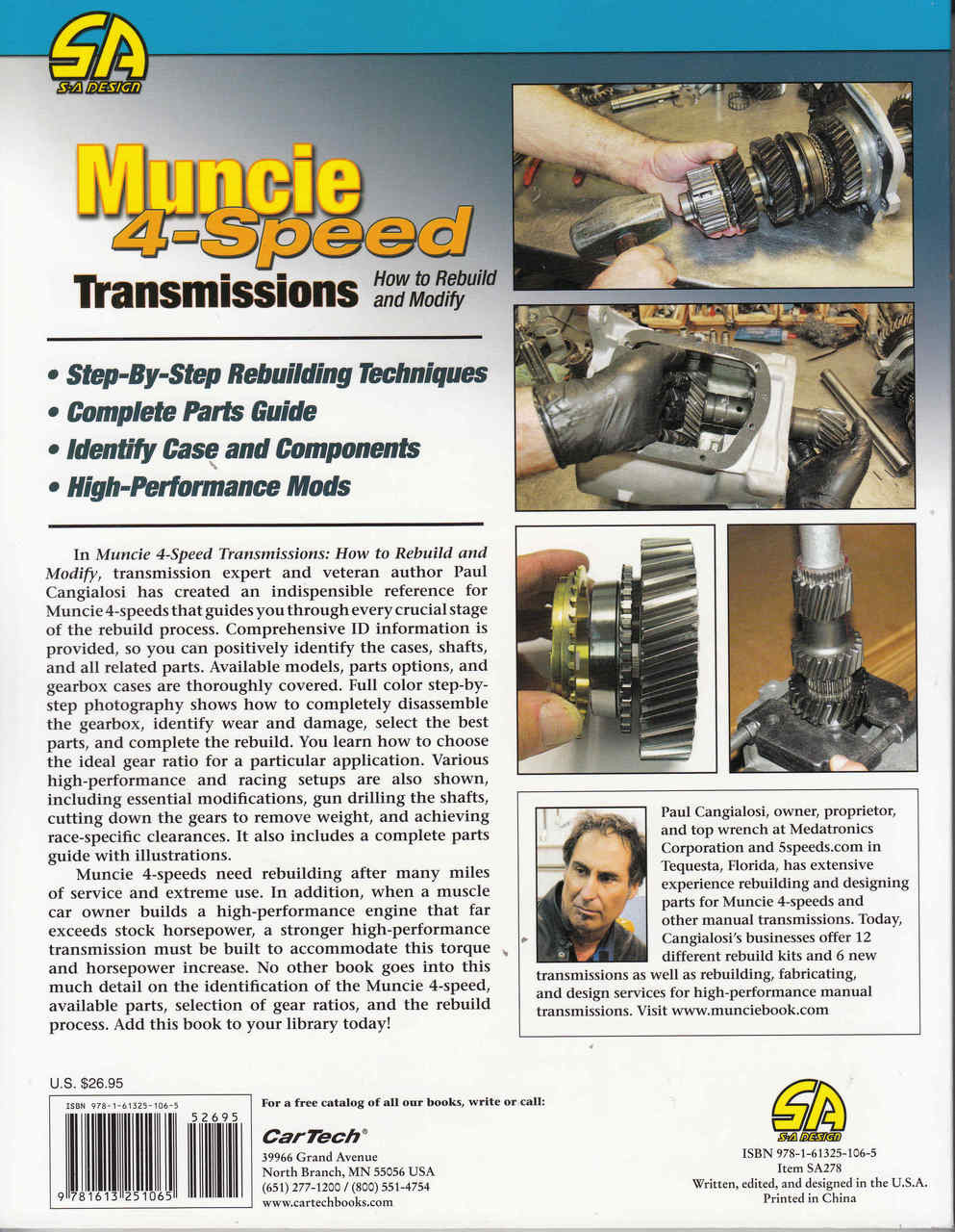 Muncie 4 Speed Transmissions - How to Rebuild and Modify