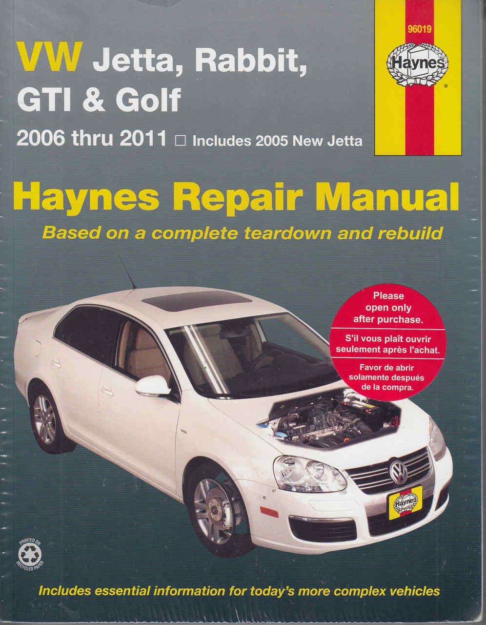 vw jetta, rabbit, gti \u0026 golf 2006 2011 repair manualVolkswagen Jetta Gold And Gti Car Service Manual #18