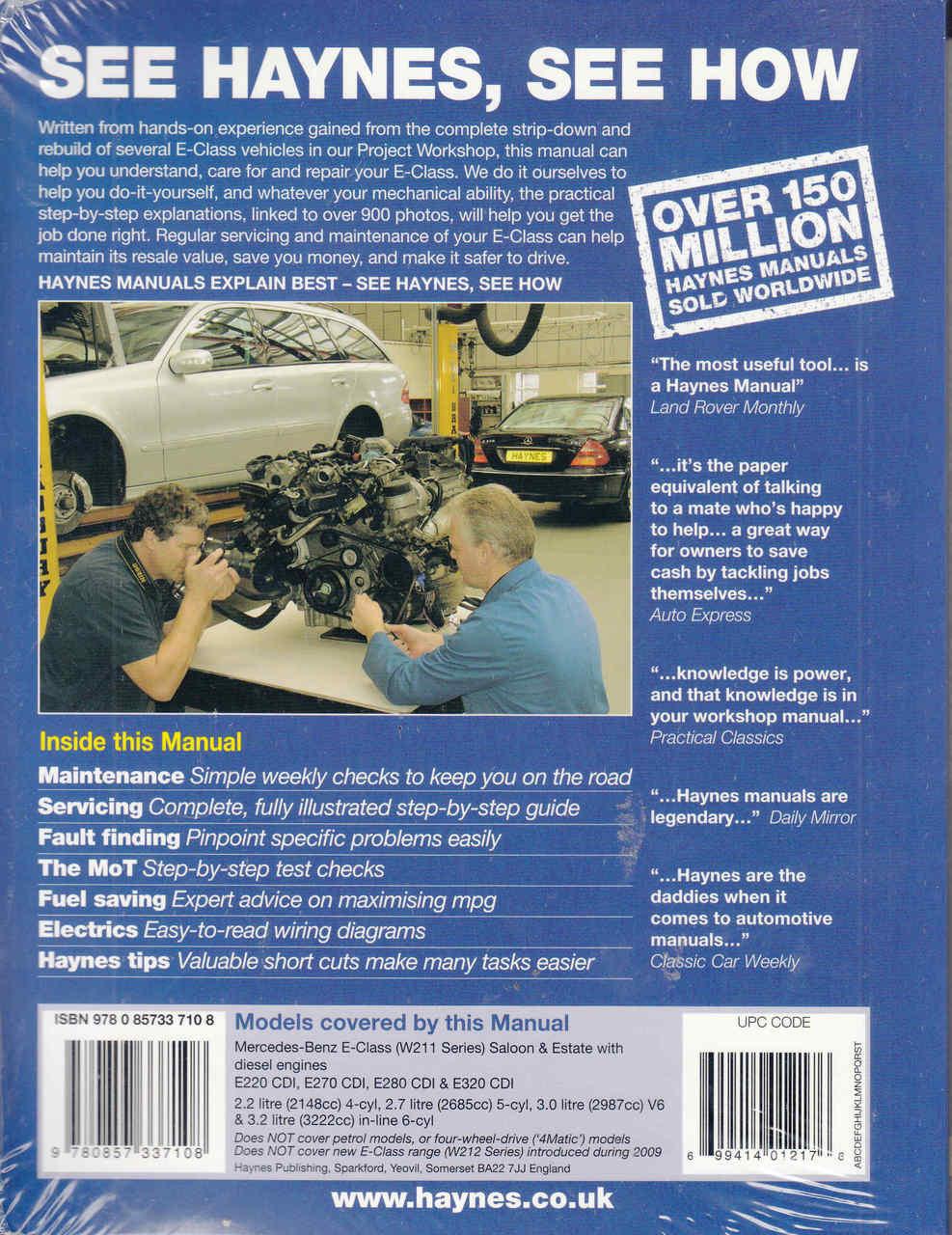 Mercedes-Benz E-Class (W211 Series) Diesel 2002-2010 Workshop Manual