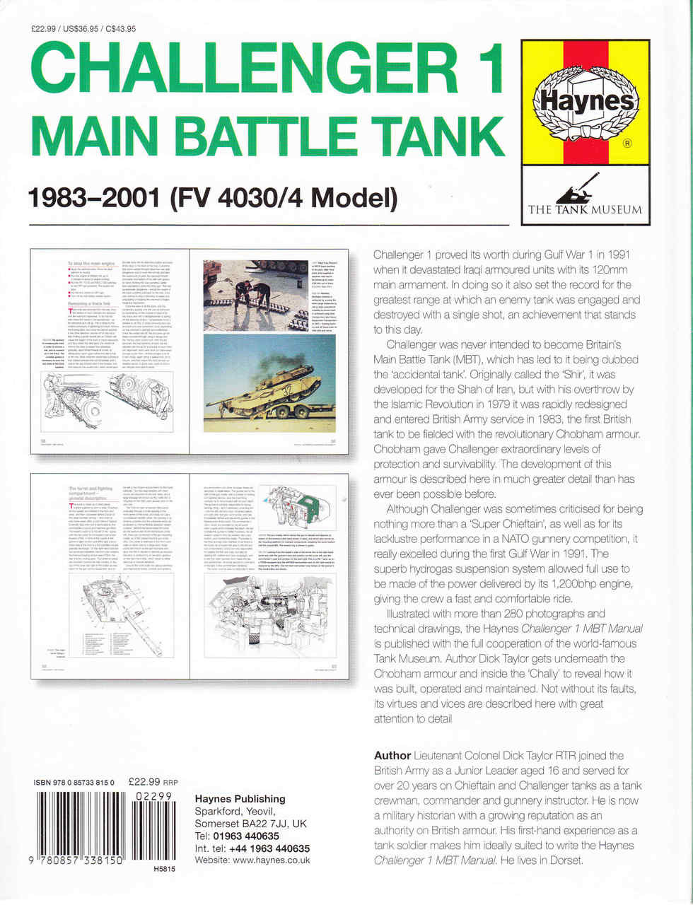 Challenger 1 Main Battle Tank 1983 - 2001 Owners' Workshop Manual
