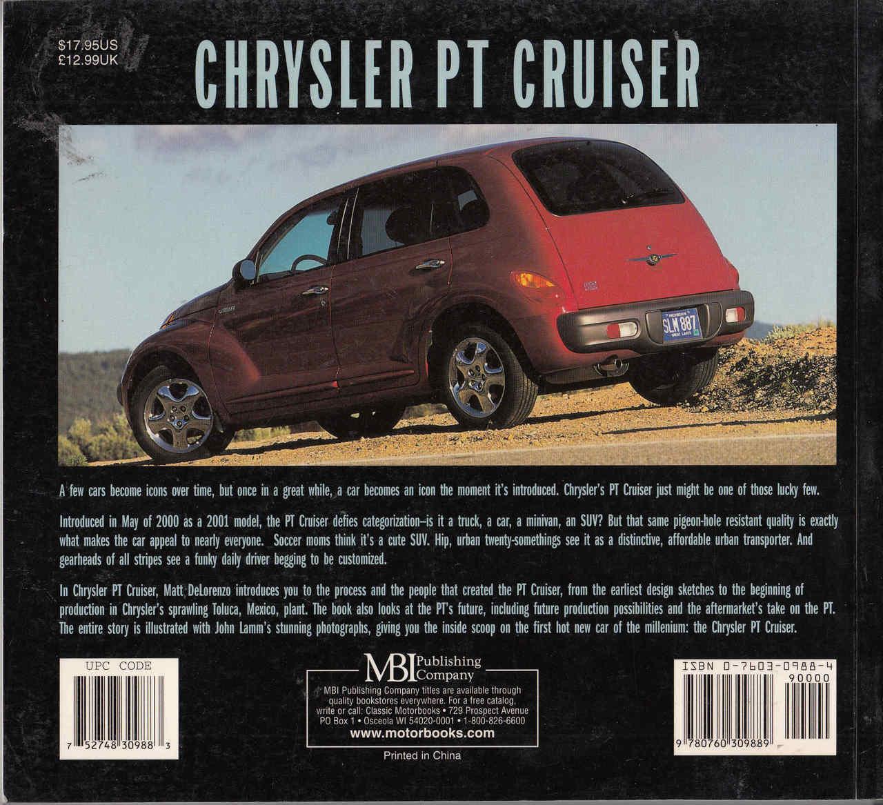 Chrysler pt cruiser motorbooks colortech back