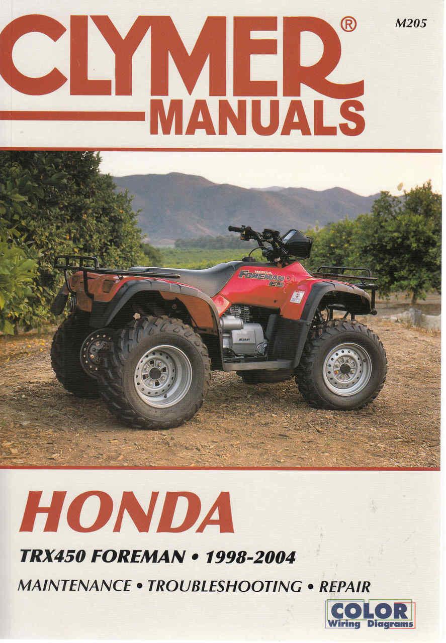 honda trx 450 foreman atv 1998 2004 workshop manual