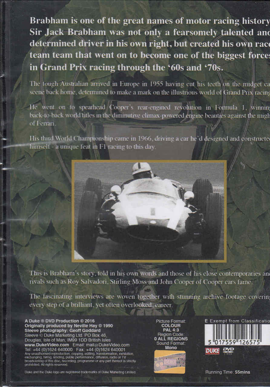 Champion Brabham - Profile of a Legend DVD