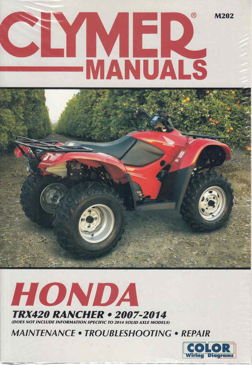 Strange Honda Trx420 Rancher Atv 2007 2014 Workshop Manual Wiring 101 Photwellnesstrialsorg