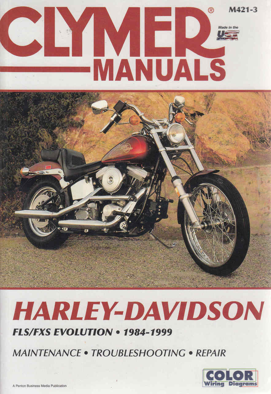 Harley-Davidson FLS / CXS Evolution 1984 - 1999 Workshop Manual on