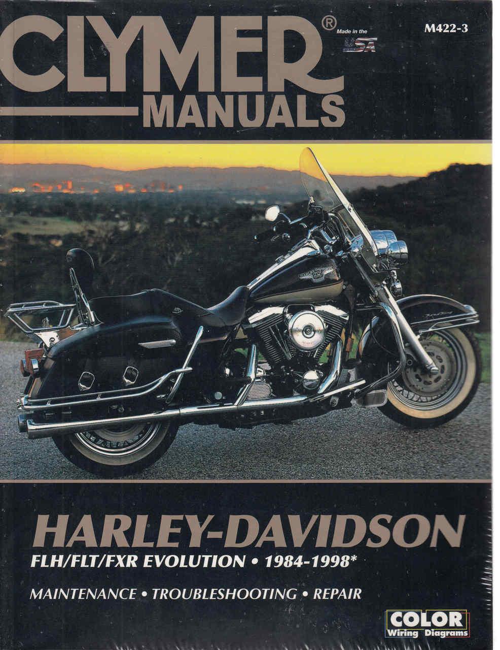 Harley-Davidson FLH FLT FXR Evolution 1984 - 1998 Workshop Manual on