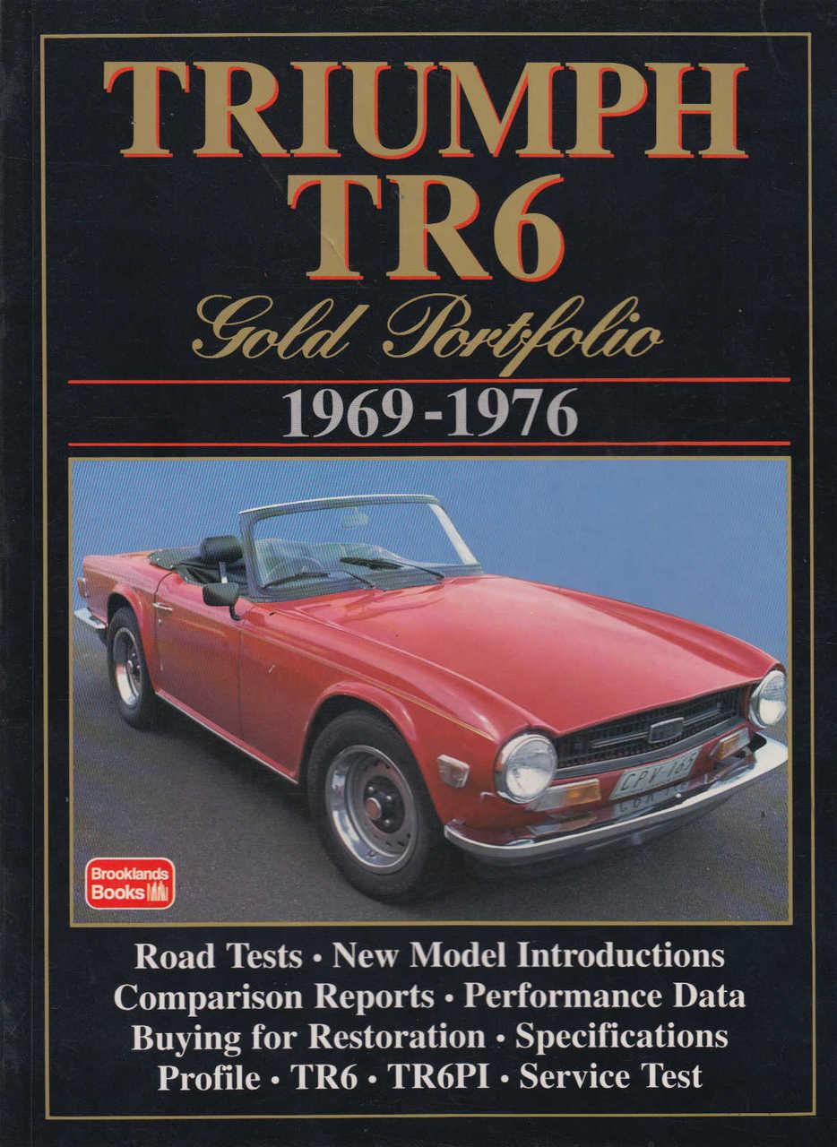 Triumph Tr6 Book Brooklands Portfolio Tr 6 Parts Accessories Car