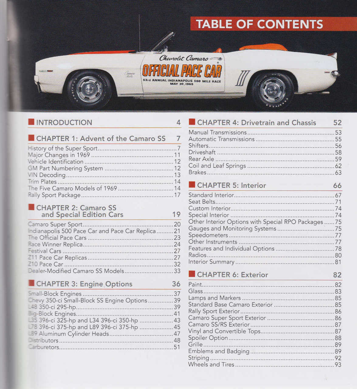 MUSCLE CARS IN DETAIL NO 4 MANUAL CT564 BOOK 1969 CHEVROLET CAMARO SS