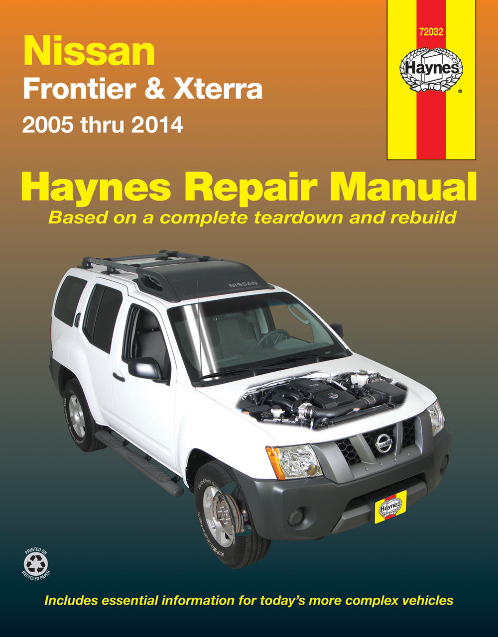 Nissan Frontier & Xterra (Navara D40, Pathfinder R51) 2005-2014 for two &  four-wheel drive Haynes Repair Manual (USA)