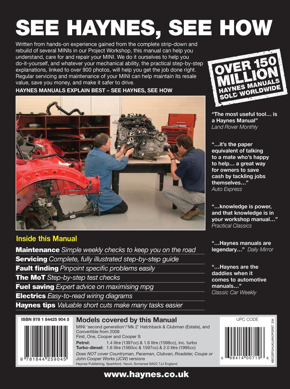 Motors Vehicle Parts & Accessories Haynes Workshop Manual Mini ...