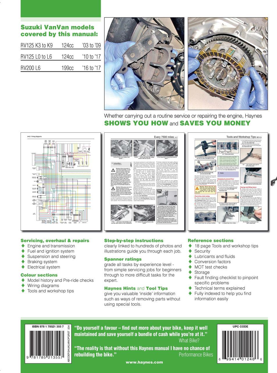 Superb Suzuki Rv125 Rv200 Vanvan 2003 2017 Workshop Manual Wiring Database Denligelartorg