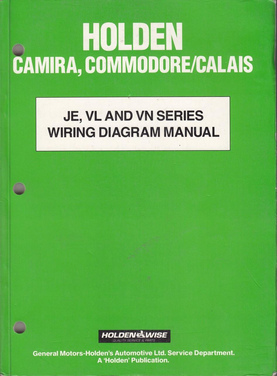 Holden Camira  Commodore  Calais Je Vl Vn Series Wiring Diagram Manua