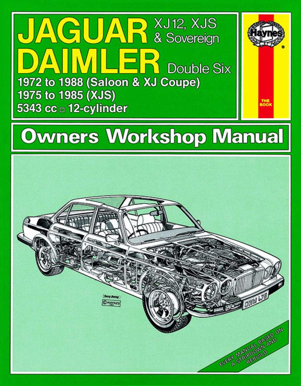 Haynes Workshop Manual Jaguar Daimler 1968-1986 XJ6 XJ Sovereign Service Repair