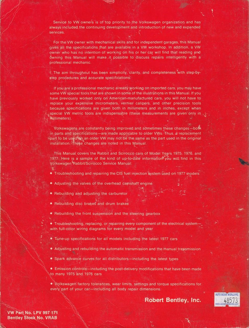 robert bentley manuals vw