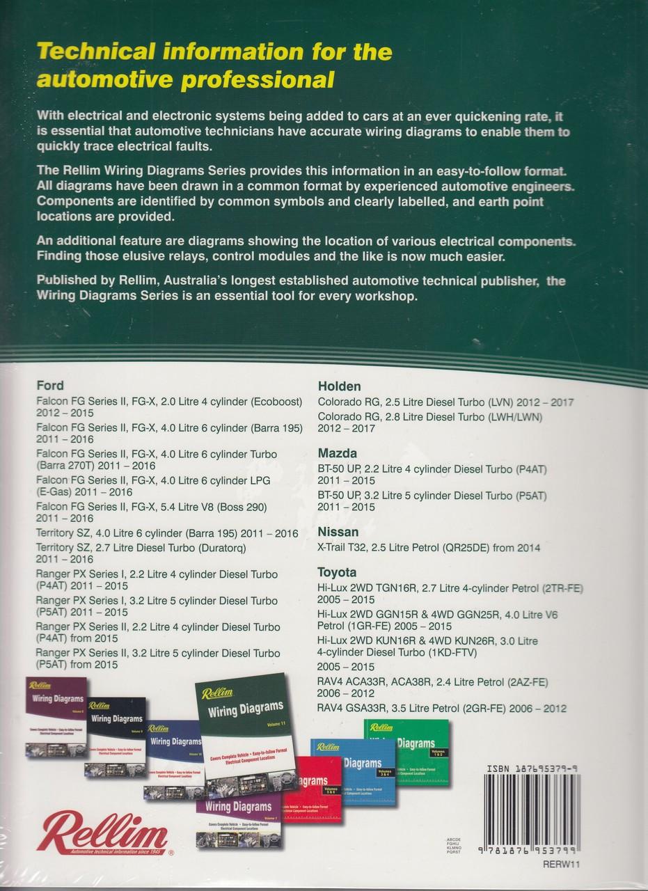 Awesome Rellim Wiring Diagrams Volume 11 Rerw11 9781876953799 Wiring 101 Mecadwellnesstrialsorg