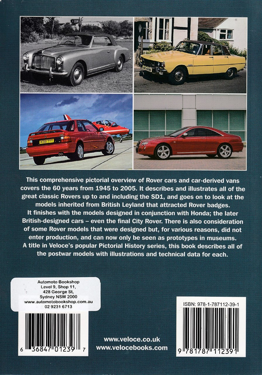 Rover Cars 1945 to 2005 - A Pictorial History (James Taylor)