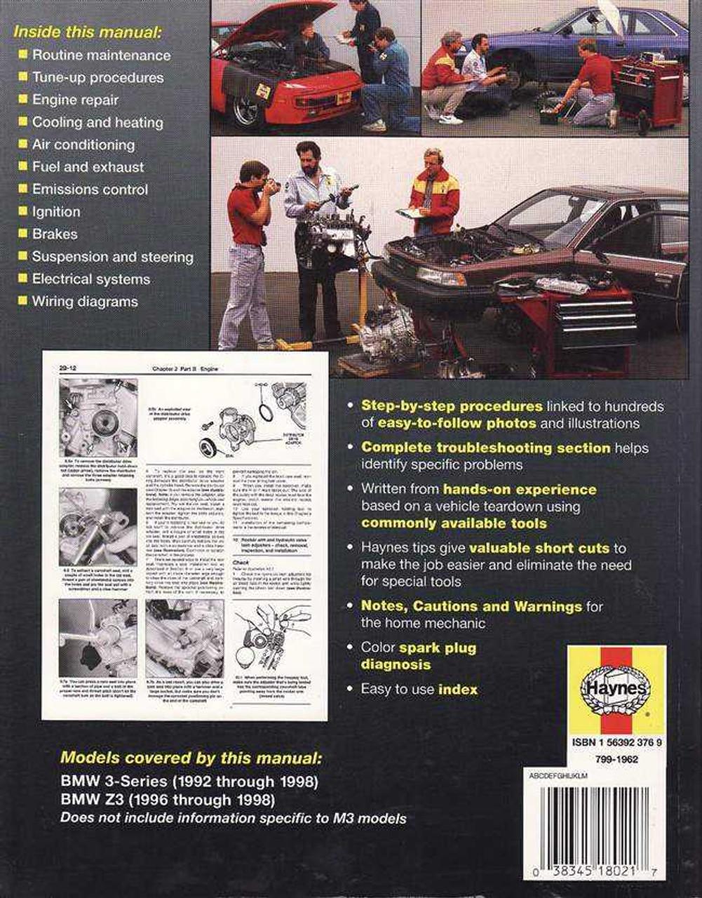 BMW 3-Series E36 (including Z3) 1992 - 1998 Workshop Manual