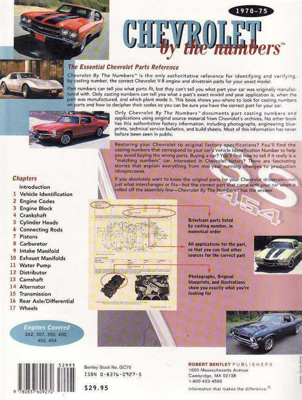 Chevrolet by The Numbers 1970 - 1975
