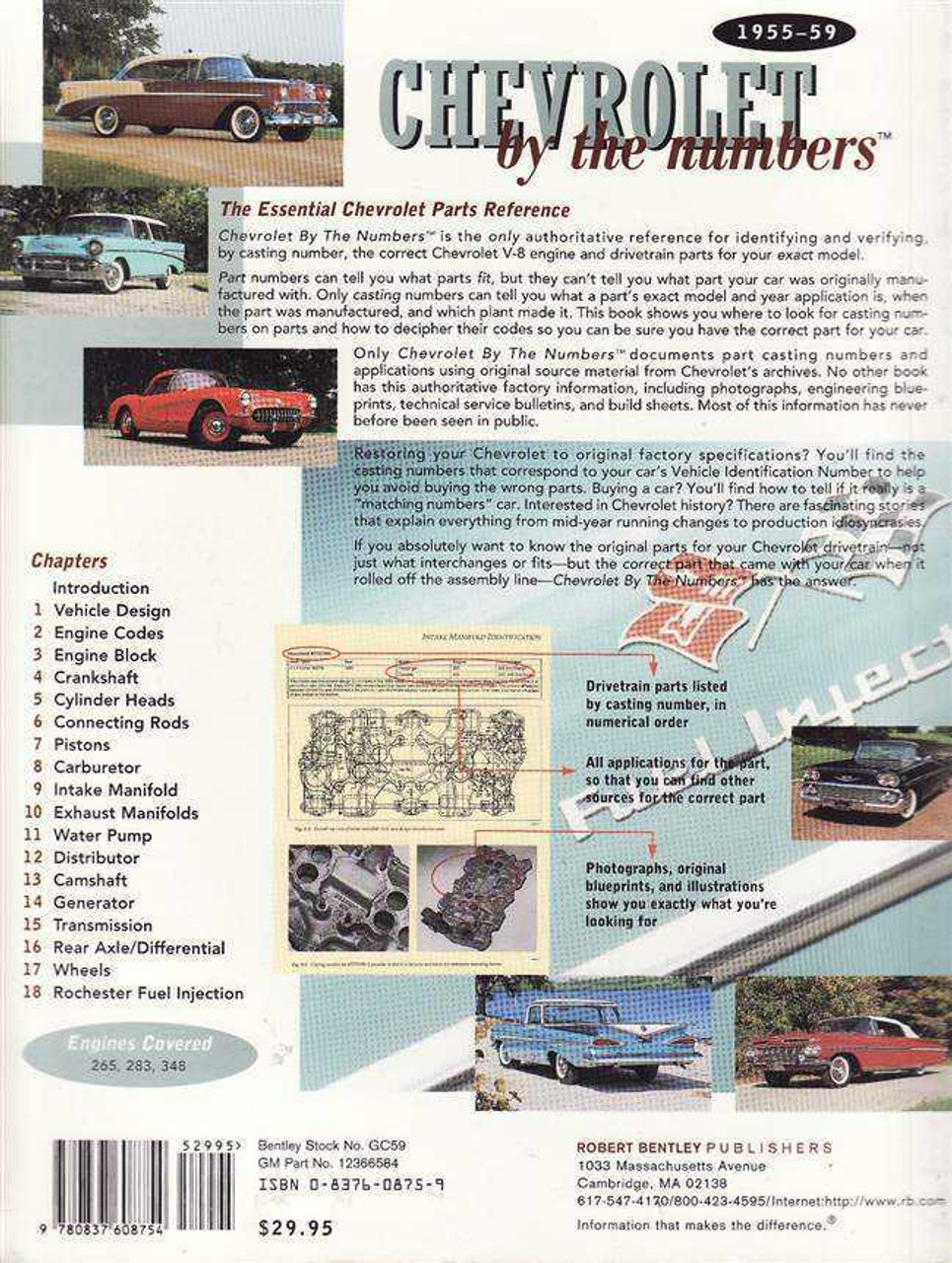 Chevrolet by the Numbers 1955 - 1959