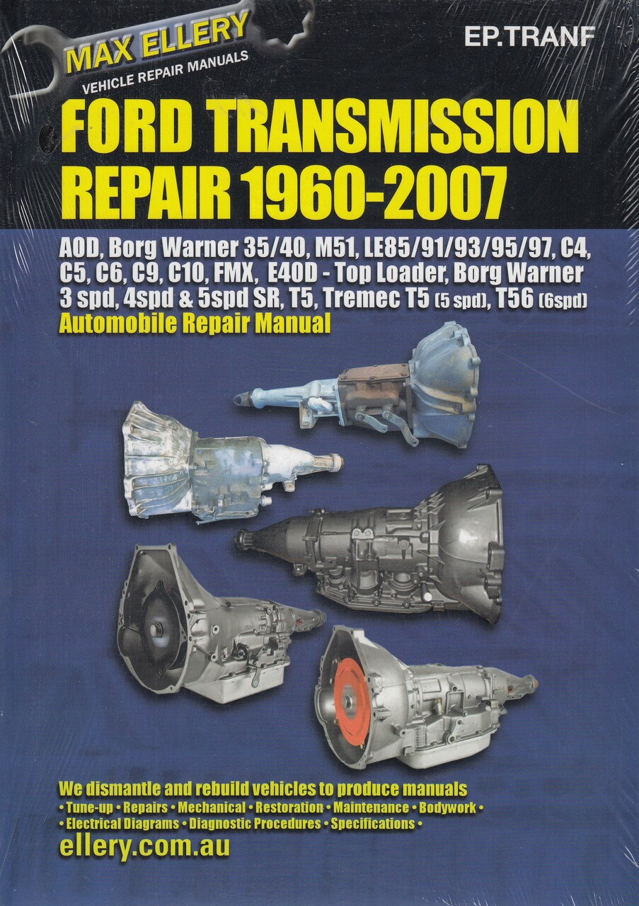 Automatic and Manual Transmission Repair Book Ford 1960 - 2007