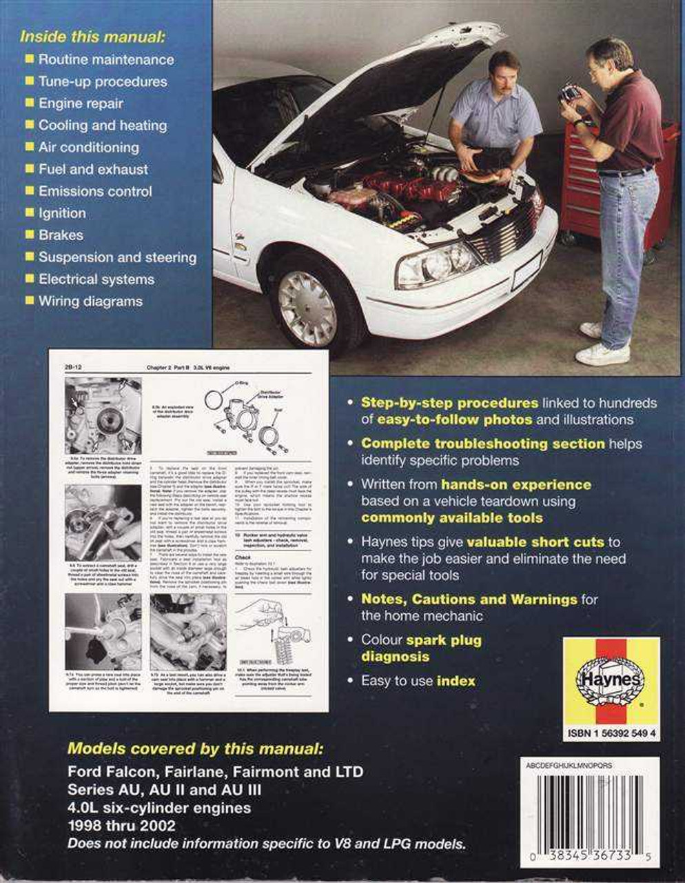 Ford Falcon / Fairlane AU, AU II, AU III 1998 - 2002 Workshop Manual