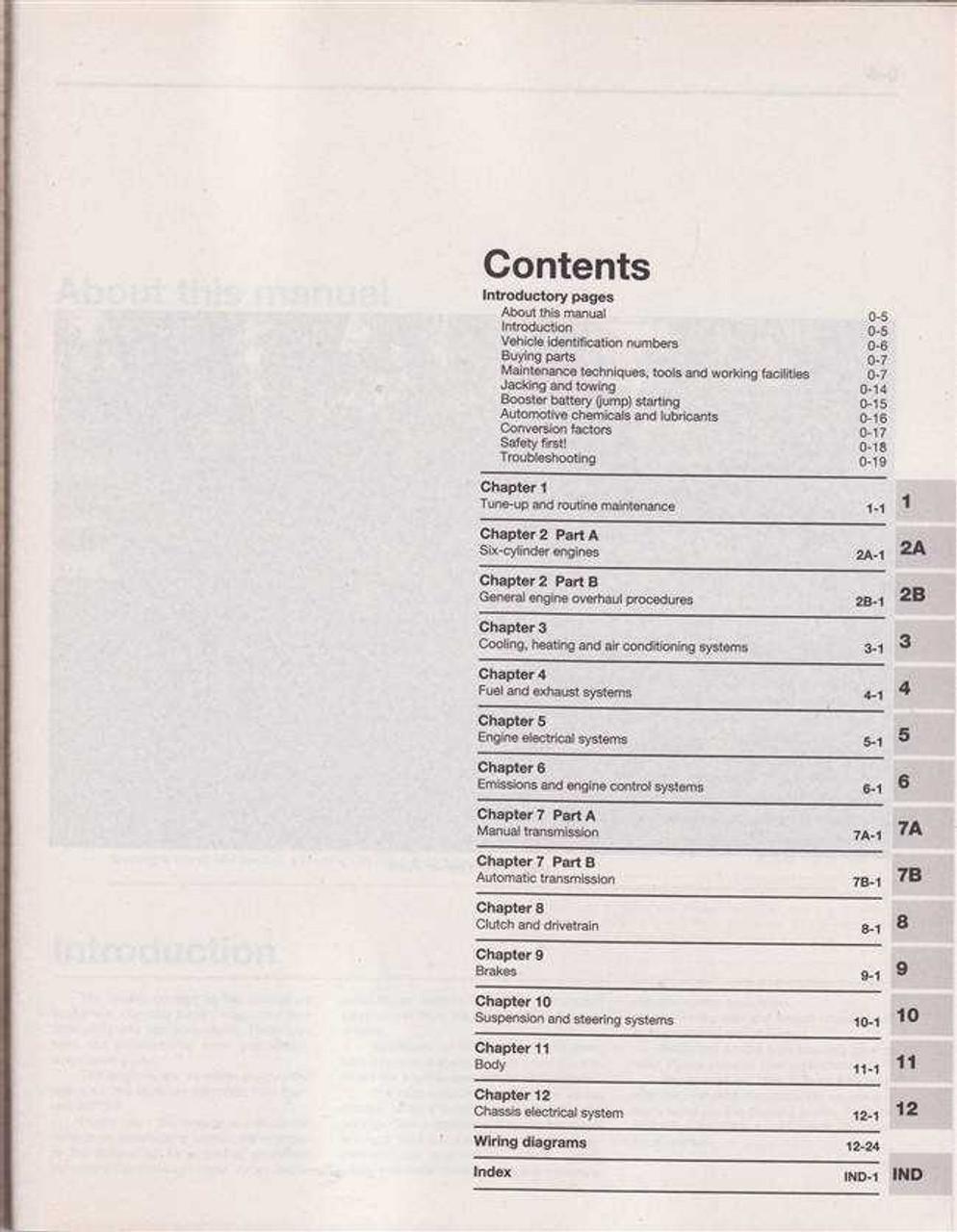 Ford Falcon / Fairlane AU, AU II, AU III 1998 - 2002 Workshop Manual