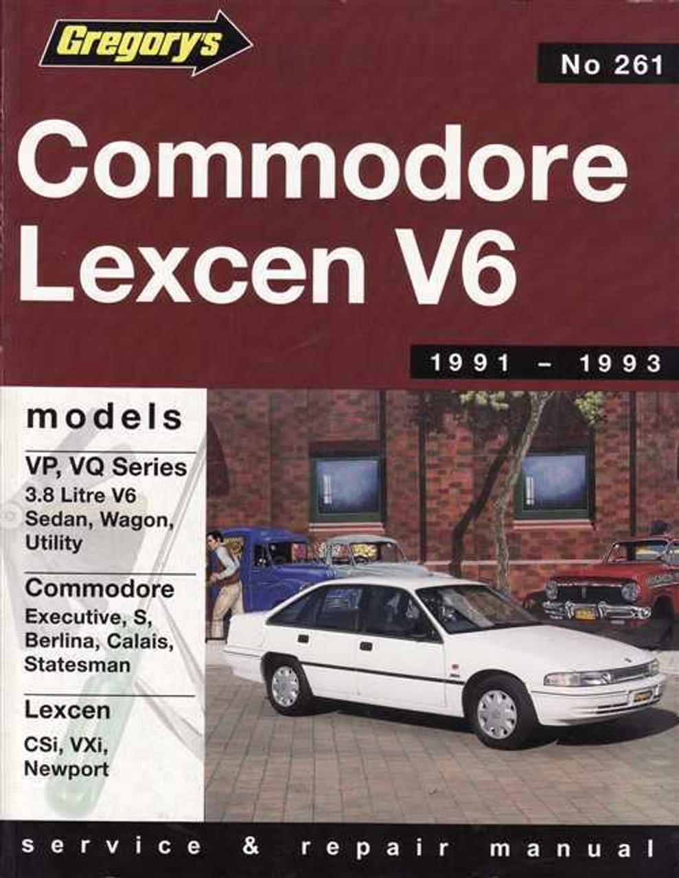 holden commodore \u0026amp; toyota lexcen v6 1991 1993 workshop manual