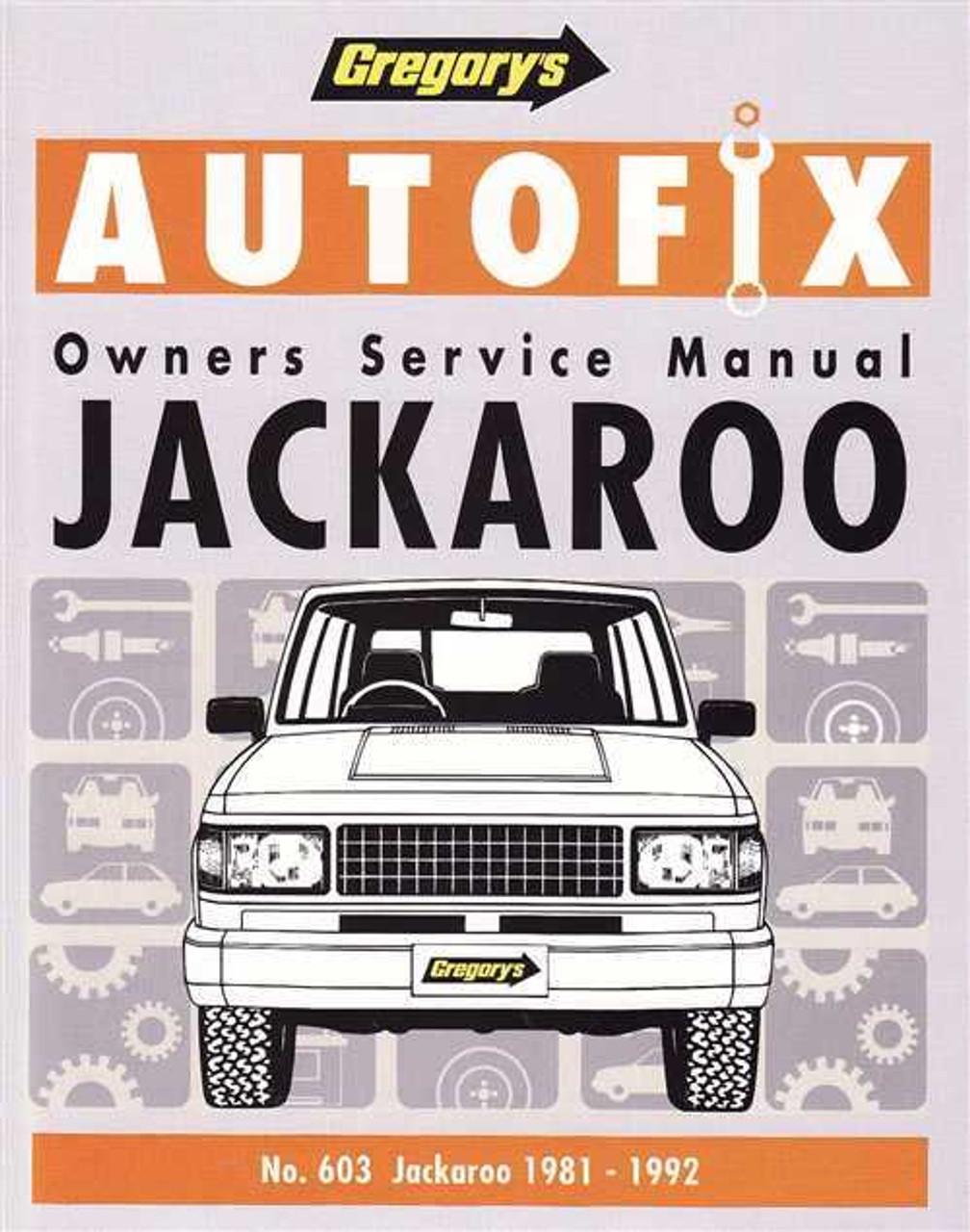 Holden Jackaroo DL, DLX, LS 1981 - 1992 Workshop Manual