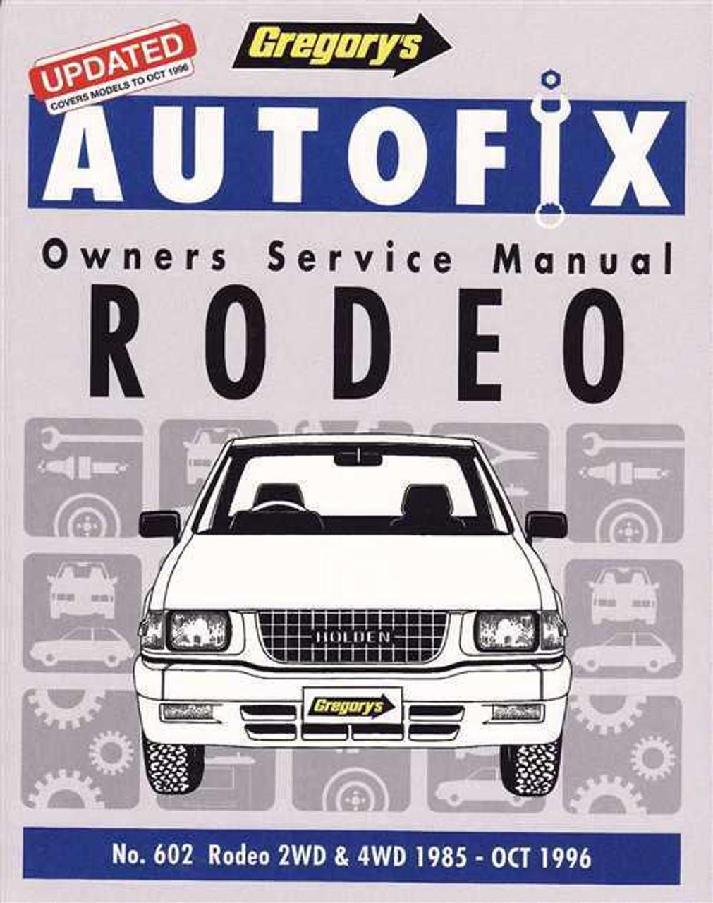 workshop manual holden rodeo diesel