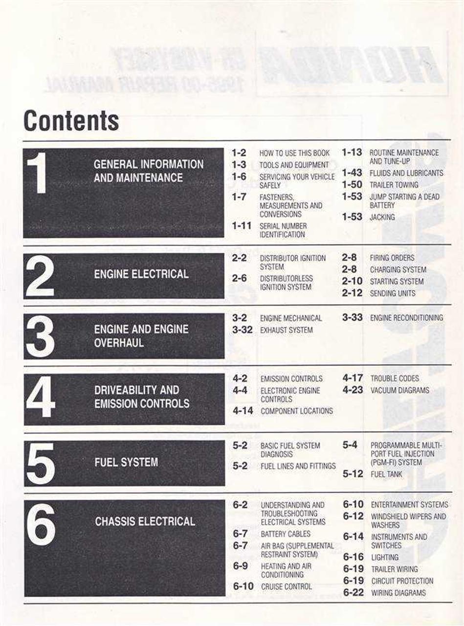 1997 Honda CR-V CRV Shop Service Repair Manual Book Engine Drivetrain Electrical
